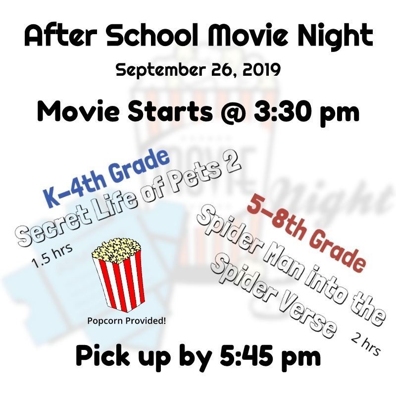 Burr Oak Schools - After School Movie Night